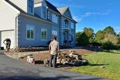 manalapan nj replacing front yard landscaping 10-10-2017 before - 1