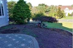manalapan nj replacing front yard landscaping 10-10-2017 before - 4