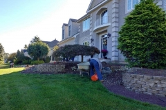 manalapan nj replacing front yard landscaping 10-10-2017 before - 10
