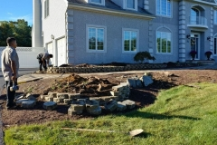 manalapan nj replacing front yard landscaping 10-10-2017 before - 2