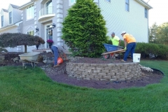 manalapan nj replacing front yard landscaping 10-10-2017 before - 9
