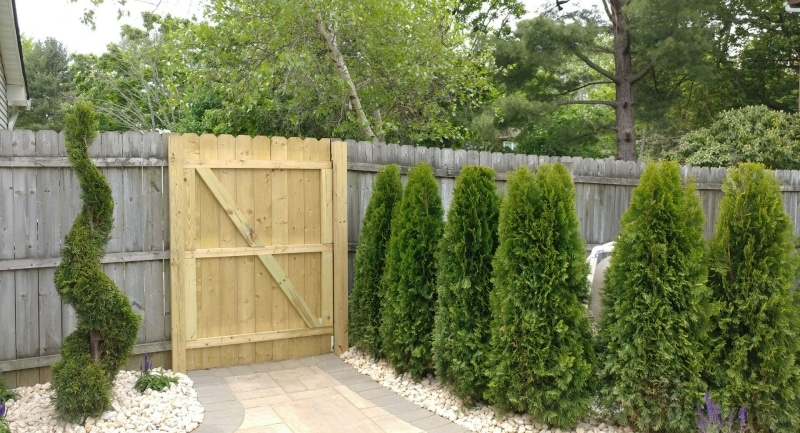Landscaping and Fence Gate Everett Court Marlboro NJ 2017