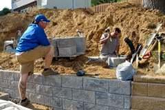 steeple-chase-dr-marlboro-nj-multi-level-retaining-wall-construction-9-11-2017-6