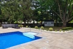 Patio, Pool Deck, Pool Coping, and Landscaping Everett Court Marlboro NJ 2017