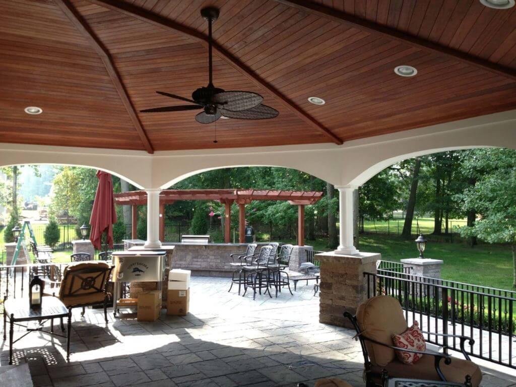 Paver patios outdoor kitchen landscaping landscape for Outdoor kitchen designs nj