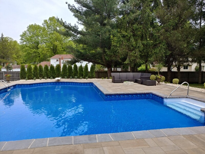 Landscape & Pool Makeover in Marlboro, NJ