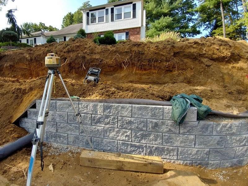 Multilevel Block Retaining Wall In Marlboro Nj Monmouth County